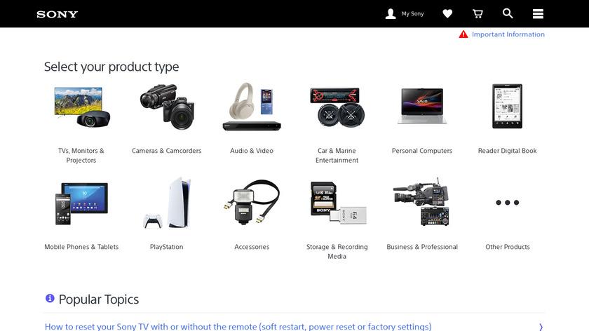 Sony PC Companion Landing Page