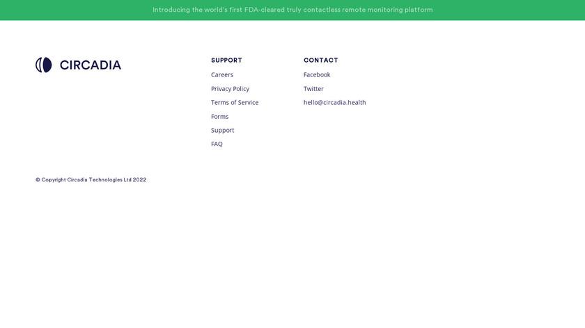 Circadia Landing Page