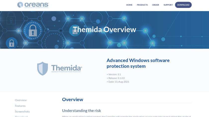 Themida Landing Page