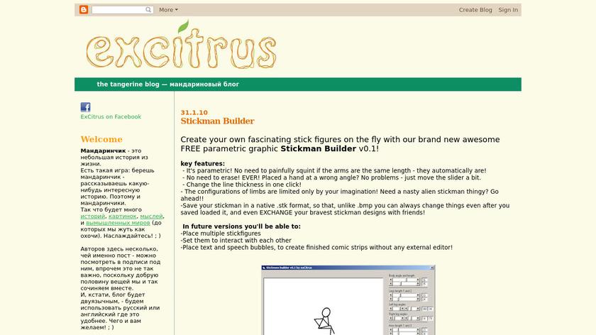 Stickman Builder Landing Page