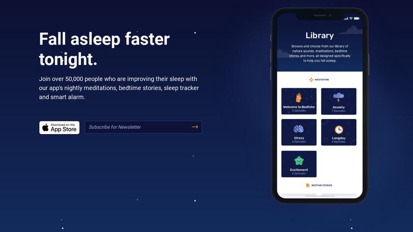 Bedtime Landing Page