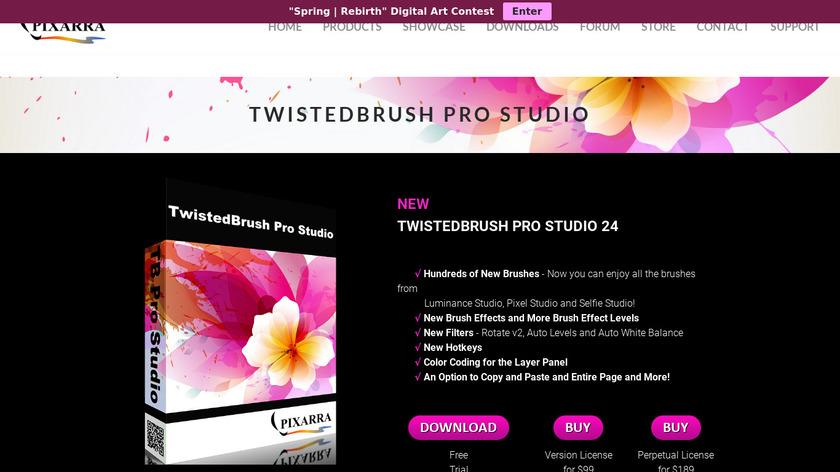 TwistedBrush Pro Studio Landing Page