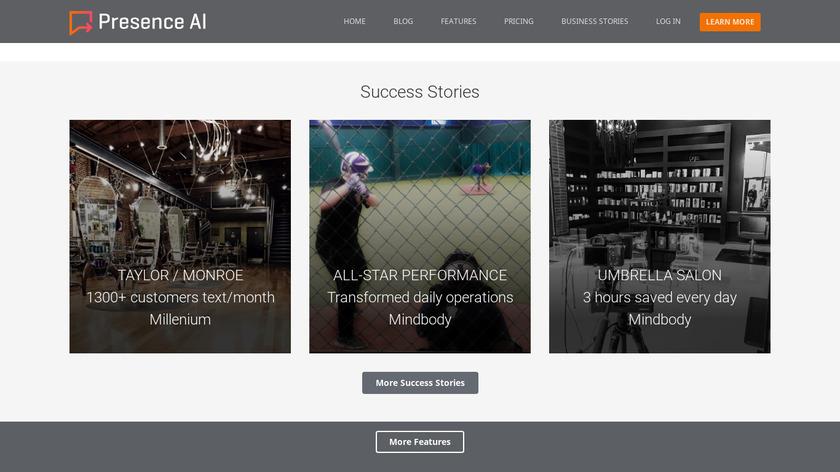Presence AI Landing Page