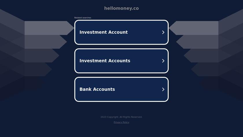 Hello Money Landing Page
