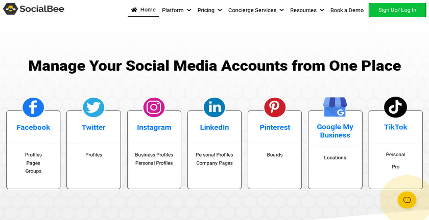 SocialBee Landing Page