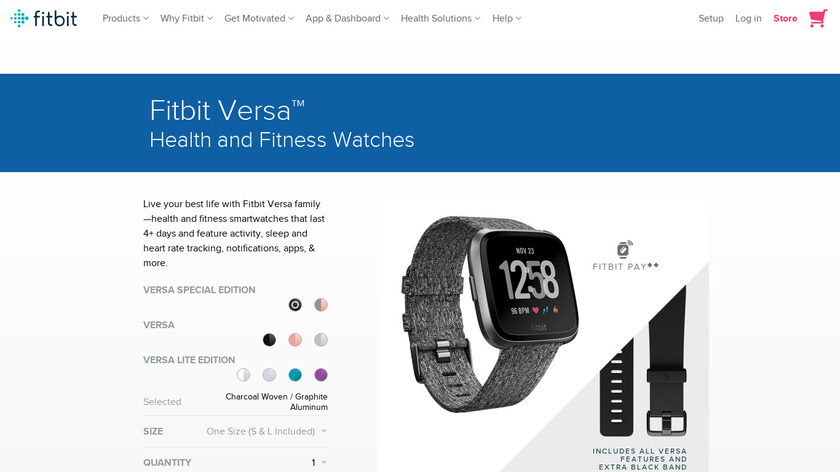 Fitbit Versa Lite Landing Page