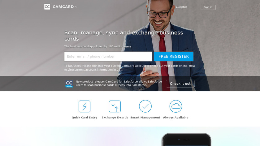 CamCard Landing Page
