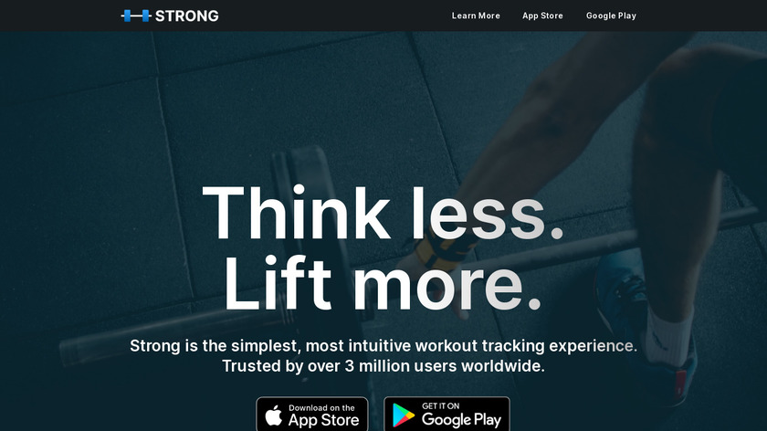 Strong.app Landing Page