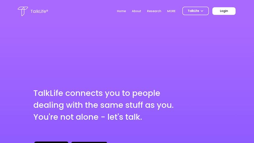 TalkLife Landing Page