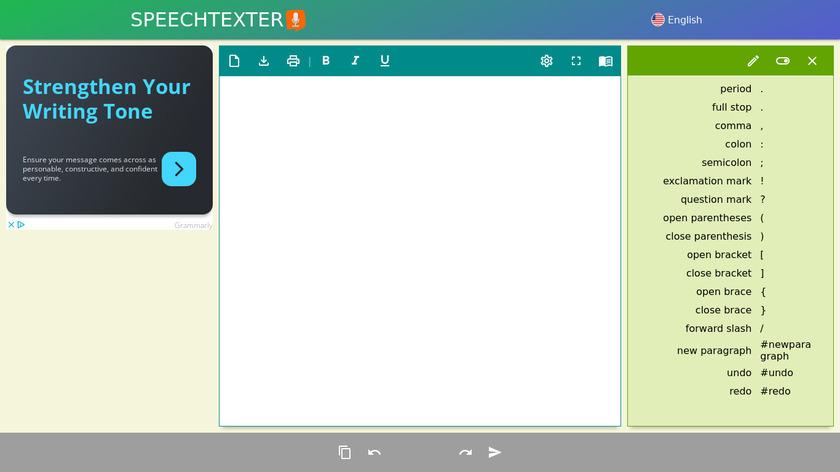 SpeechTexter - Online Voice Recognition Landing Page