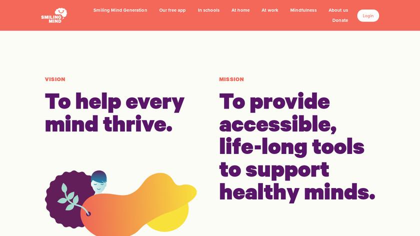 Smiling Mind Landing Page