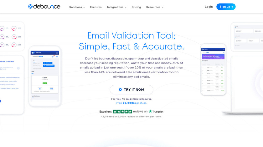 DeBounce Landing Page