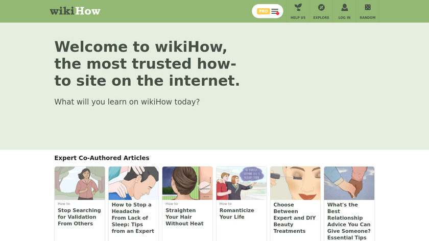 wikiHow Landing Page