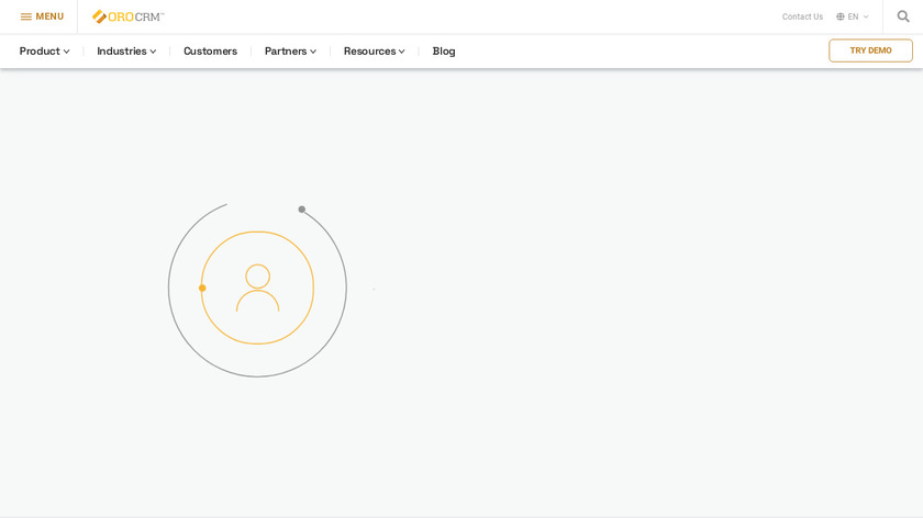 OroCRM Landing Page