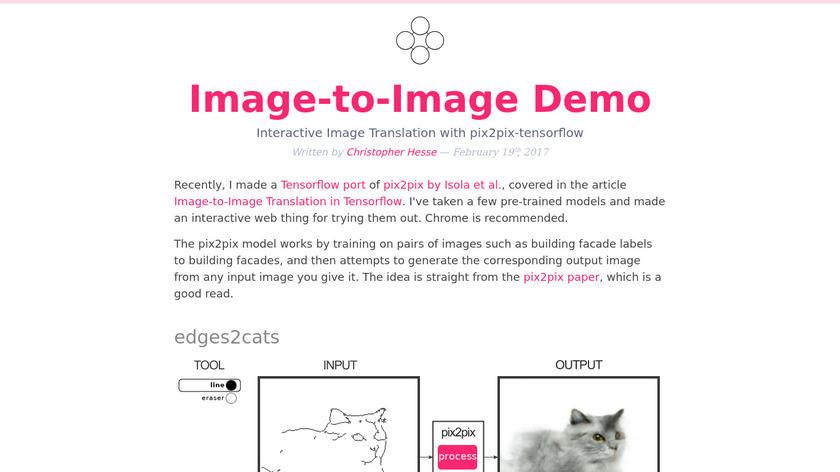 Pix2pix Landing Page