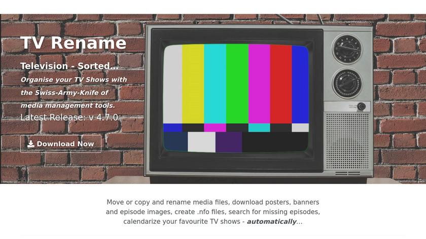 TV Rename Landing Page