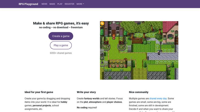 RPG Playground Landing Page