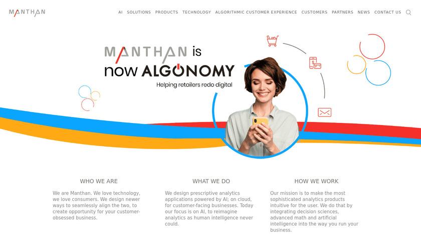 Manthan Landing Page