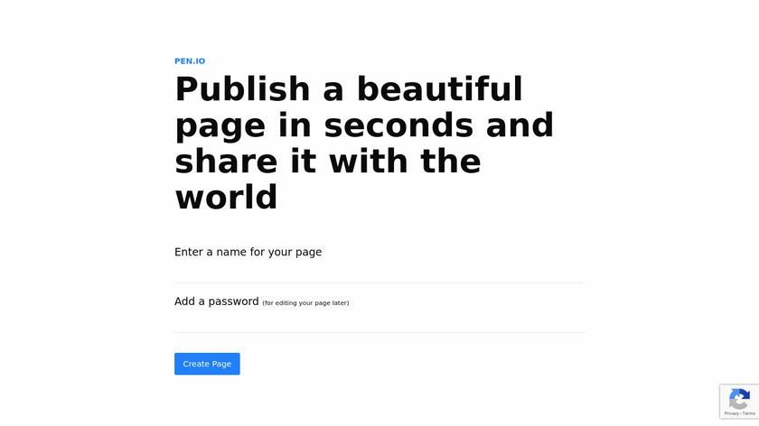 pen.io Landing Page