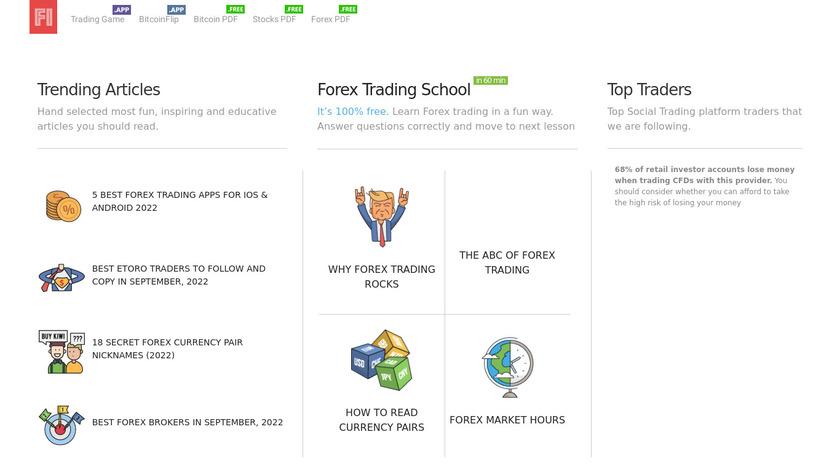 Trading Game Landing Page