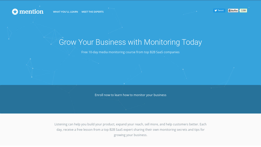 Mention Monitoring Academy Landing Page