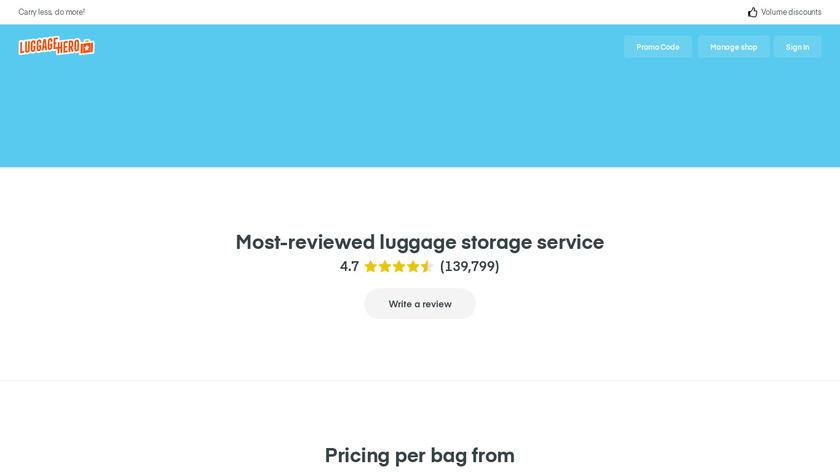 LuggageHero Landing Page