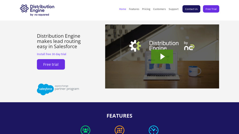 Distribution Engine by NC Squared Landing Page