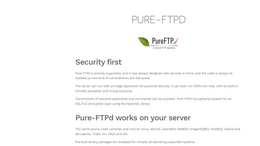 Pure-FTPd Landing Page