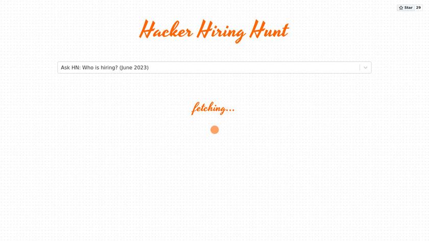 Hacker Hiring Hunt Landing Page