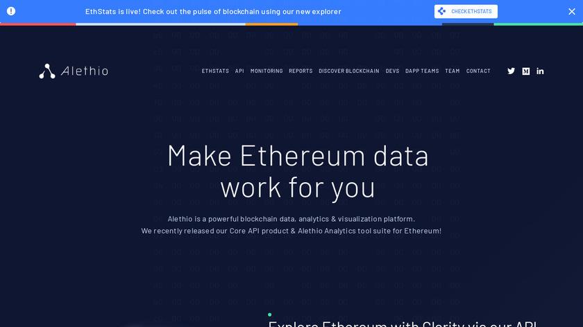 Alethio Landing Page