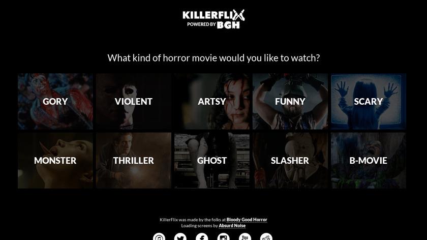 KillerFlix Landing Page