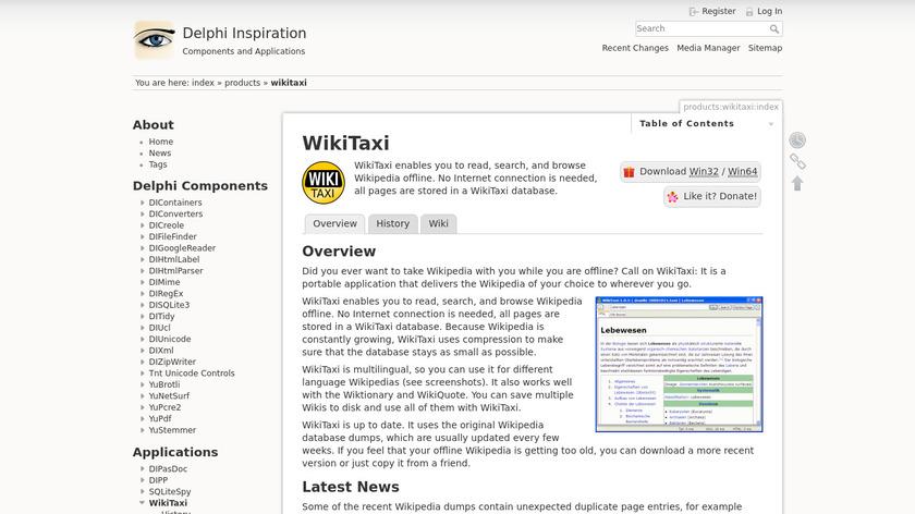 yunqa.de WikiTaxi Landing Page