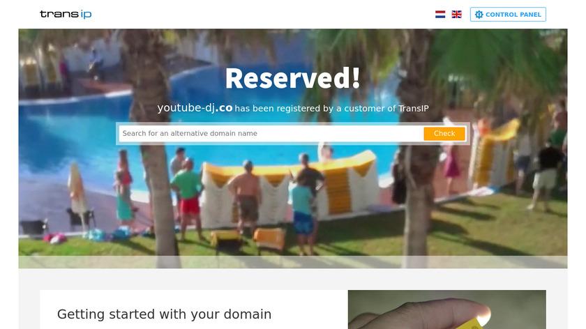 Youtube-DJ Landing Page
