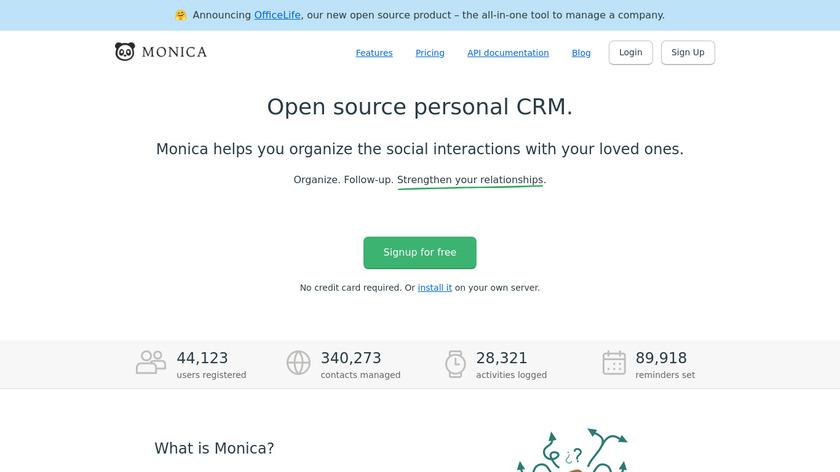 Monica Landing Page
