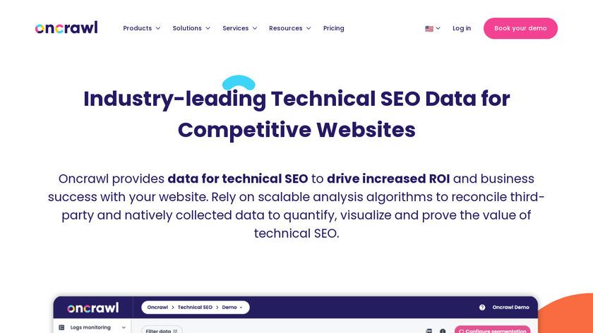 OnCrawl Landing Page