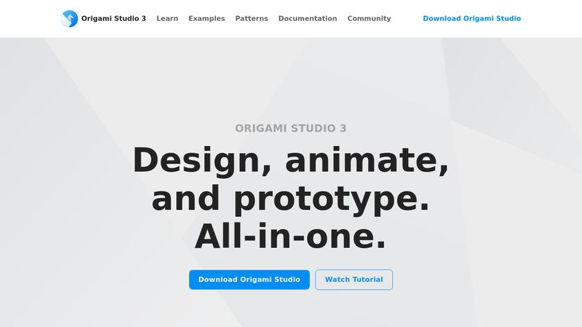 Origami Studio Landing Page
