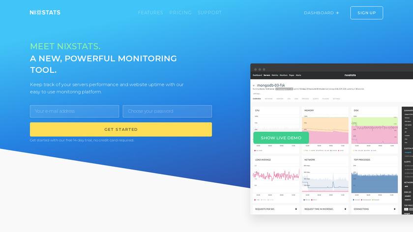 NIXStats Landing Page
