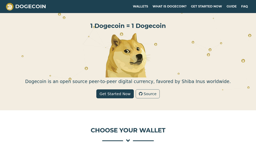Dogecoin Landing Page