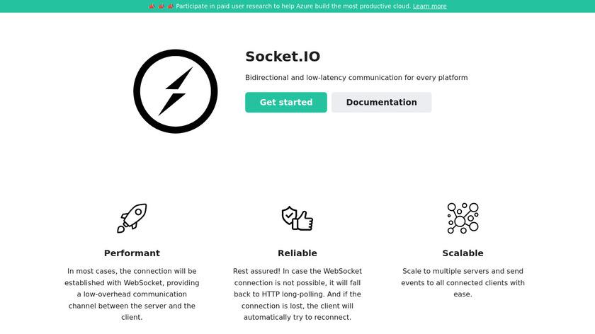 Socket.io Landing Page