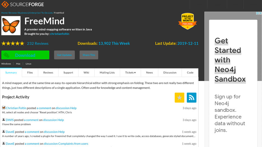 FreeMind Landing Page
