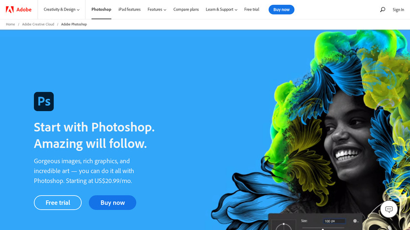 Adobe Photoshop Landing Page