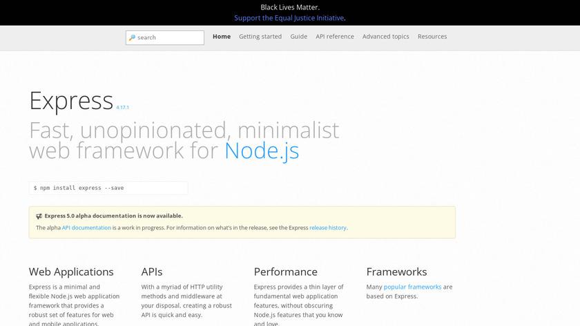 ExpressJS Landing Page