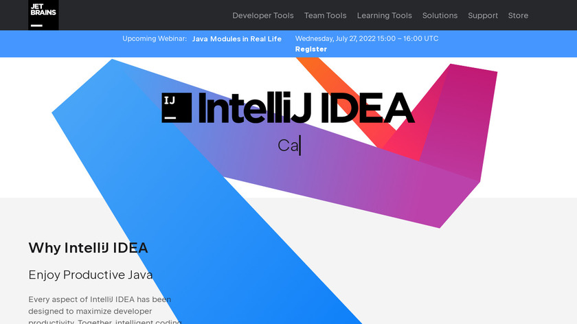 IntelliJ IDEA Landing Page
