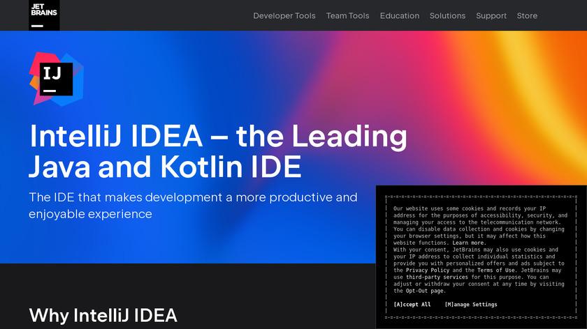 IntelliJ IDEA Landing Page