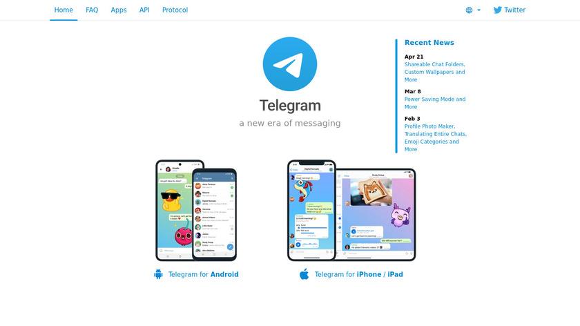 Telegram Landing Page