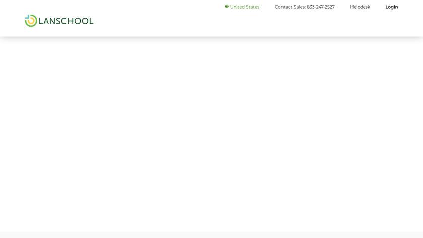 LanSchool Landing Page