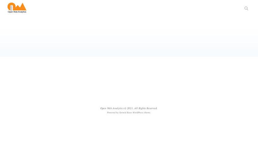 Open Web Analytics Landing Page