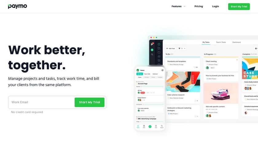 Paymo Landing Page