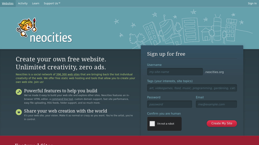 Neocities Landing Page