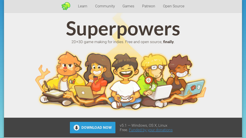 Superpowers Landing Page